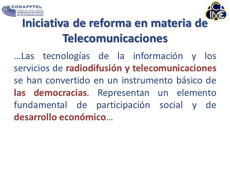 Iniciativa de reforma en materia de Telecomunicaciones