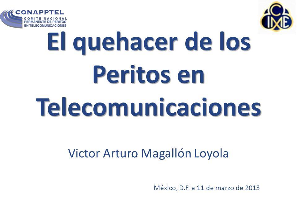El quehacer de los Peritos en Telecomunicaciones