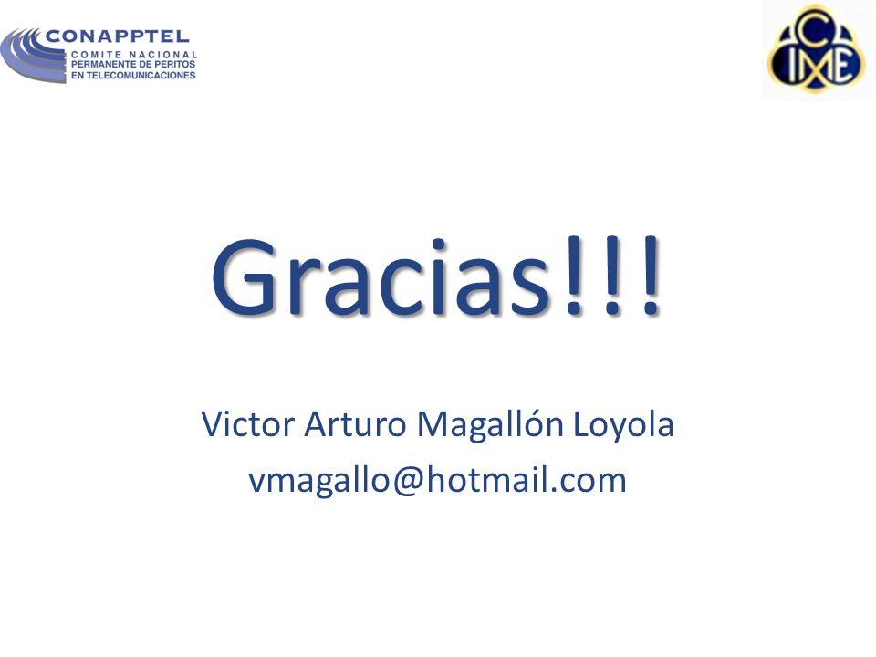 Victor Arturo Magallón Loyola vmagallo@hotmail.com