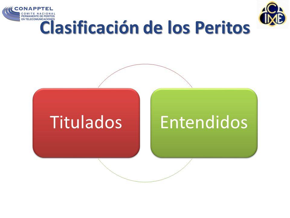 Clasificación de los Peritos