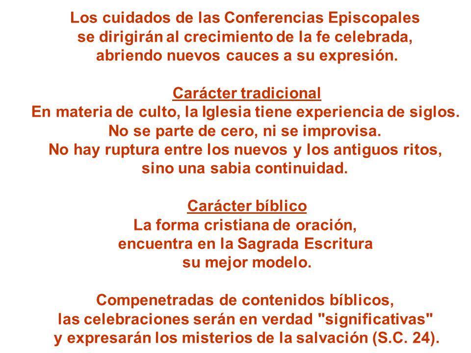 Los cuidados de las Conferencias Episcopales