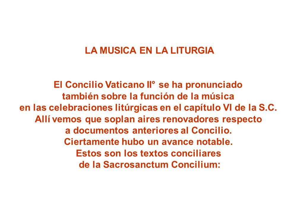 LA MUSICA EN LA LITURGIA