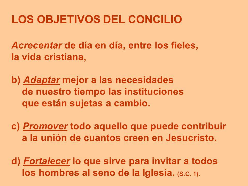 LOS OBJETIVOS DEL CONCILIO