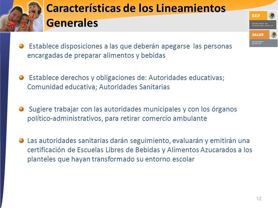 Características de los Lineamientos Generales