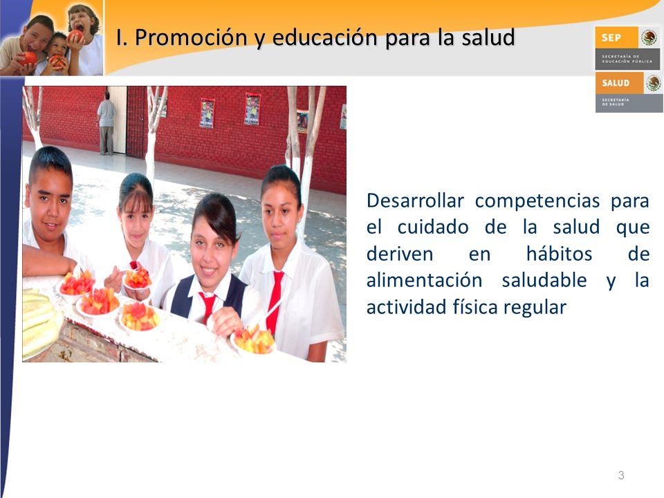 I. Promoción y educación para la salud