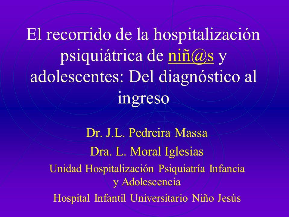 El recorrido de la hospitalización psiquiátrica de niñ@s y adolescentes: Del diagnóstico al ingreso