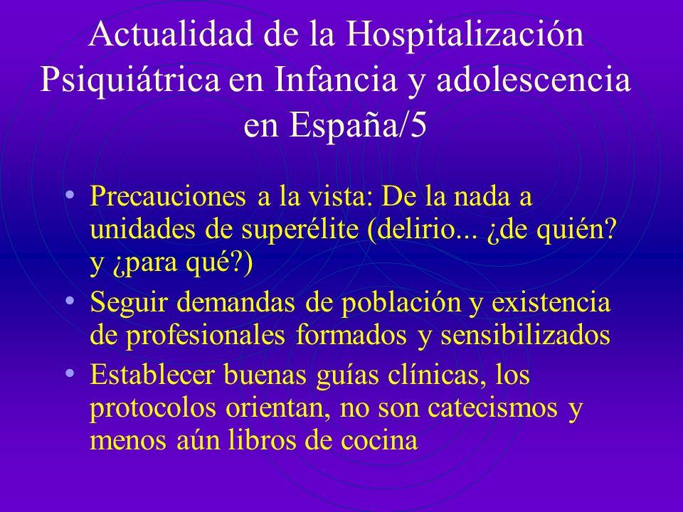 Actualidad de la Hospitalización Psiquiátrica en Infancia y adolescencia en España/5