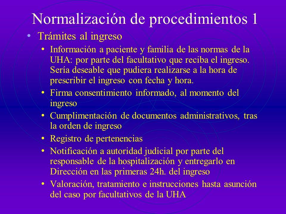 Normalización de procedimientos 1