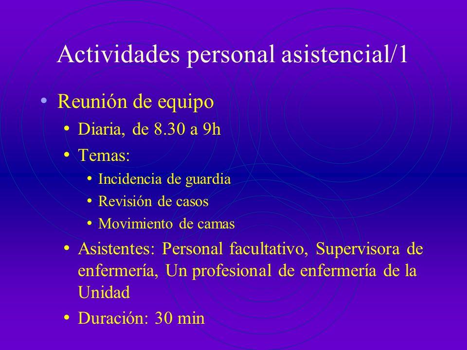 Actividades personal asistencial/1