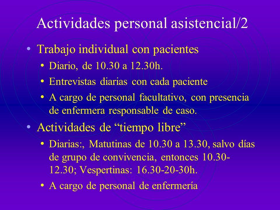 Actividades personal asistencial/2