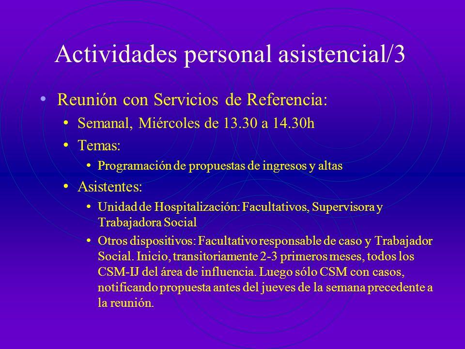 Actividades personal asistencial/3