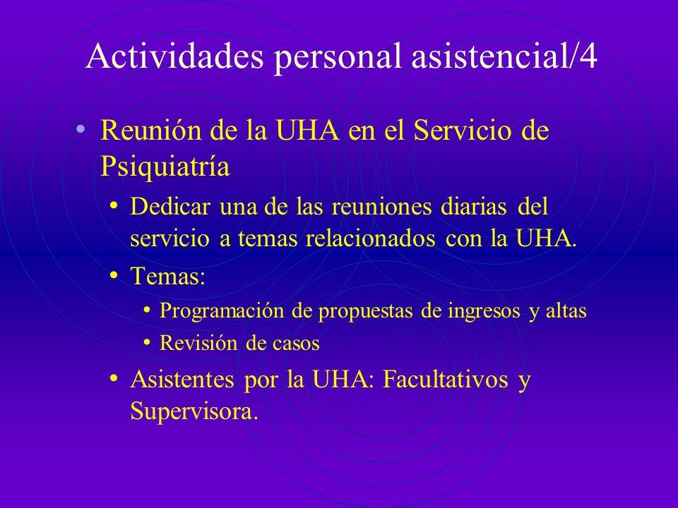 Actividades personal asistencial/4