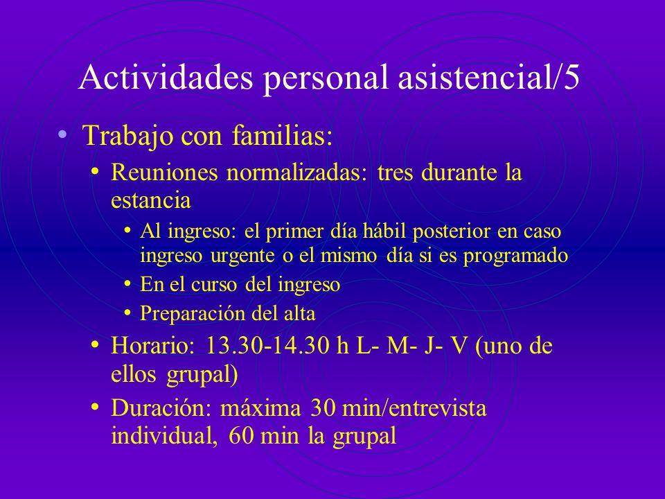 Actividades personal asistencial/5