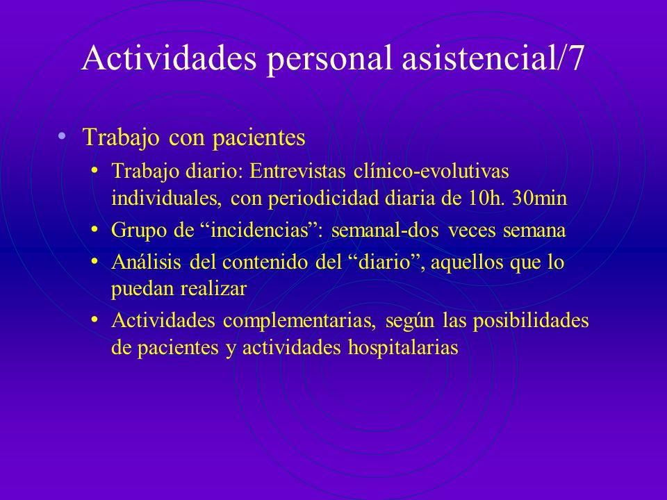 Actividades personal asistencial/7