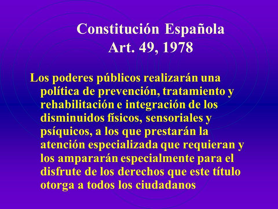 Constitución Española Art. 49, 1978