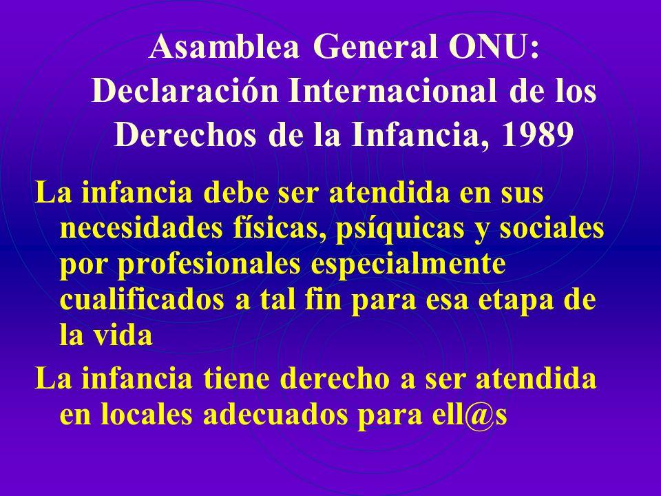 Asamblea General ONU: Declaración Internacional de los Derechos de la Infancia, 1989