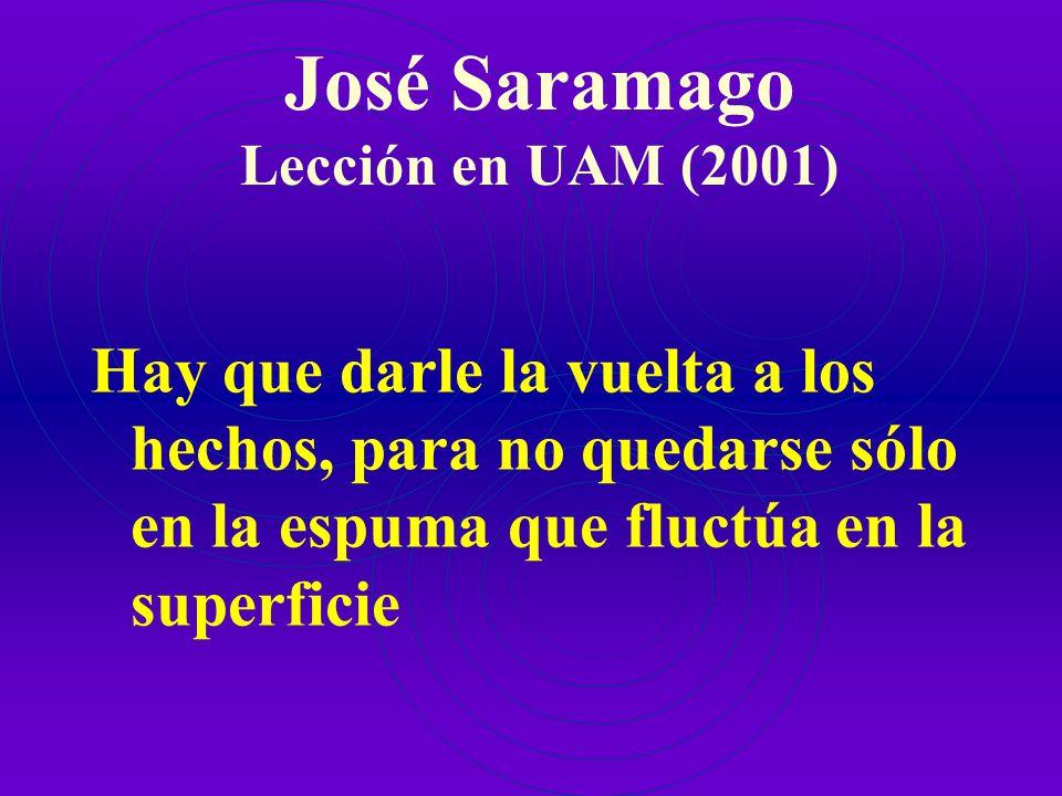 José Saramago Lección en UAM (2001)