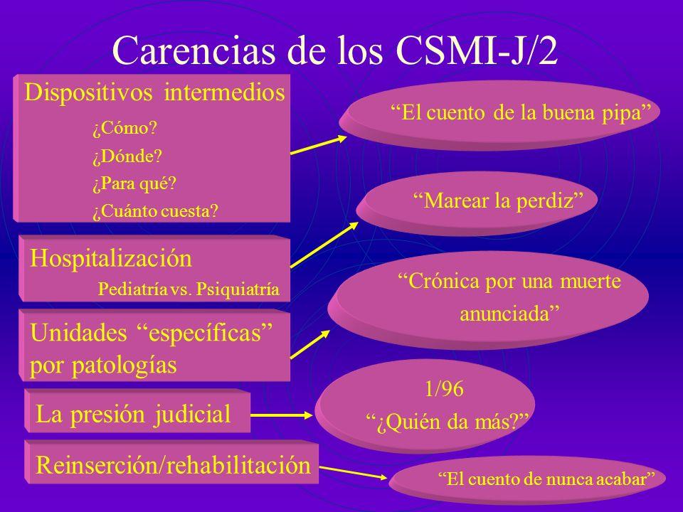 Carencias de los CSMI-J/2