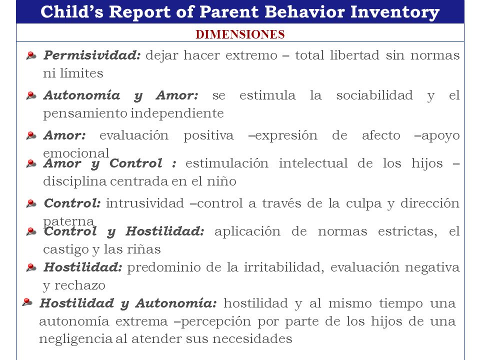 Child's Report of Parent Behavior Inventory