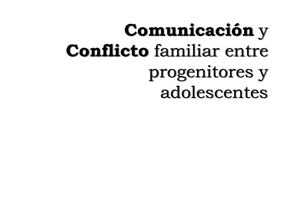 Comunicación y Conflicto familiar entre progenitores y adolescentes