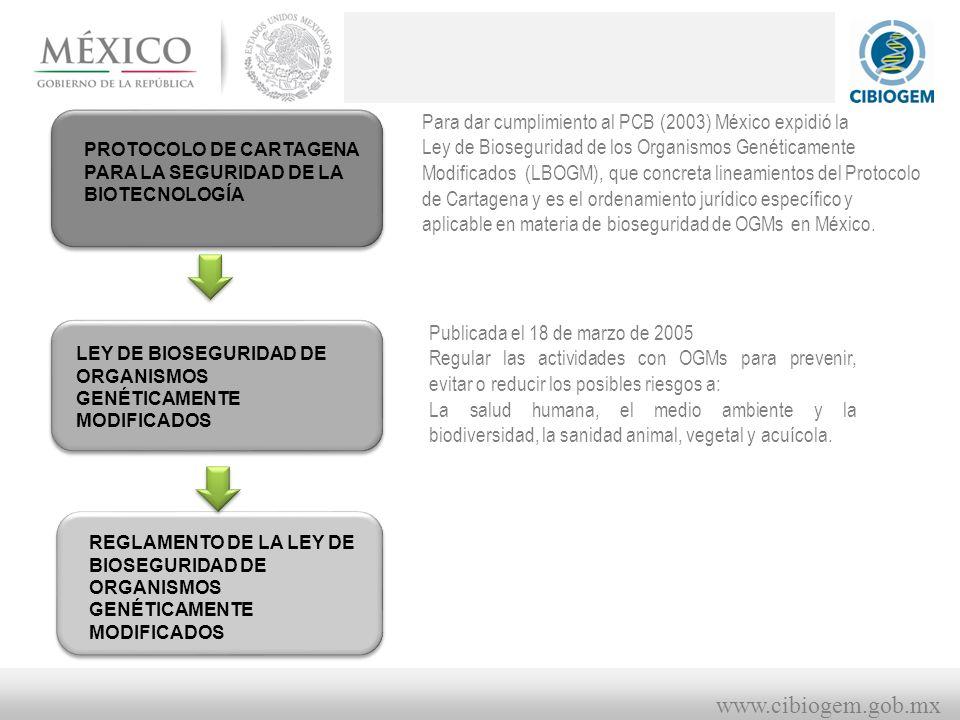 Para dar cumplimiento al PCB (2003) México expidió la