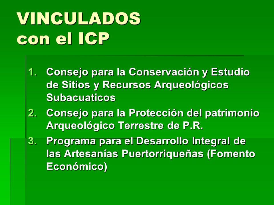 VINCULADOS con el ICP Consejo para la Conservación y Estudio de Sitios y Recursos Arqueológicos Subacuaticos.