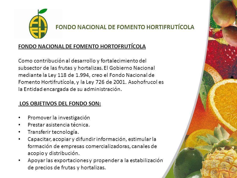 FONDO NACIONAL DE FOMENTO HORTIFRUTÍCOLA