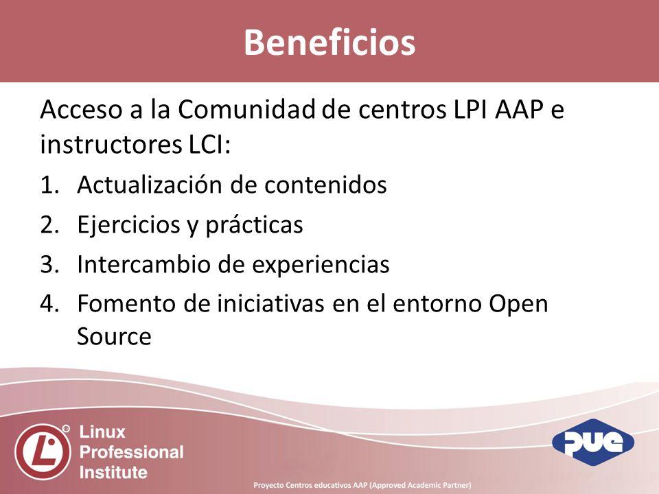 Beneficios Acceso a la Comunidad de centros LPI AAP e