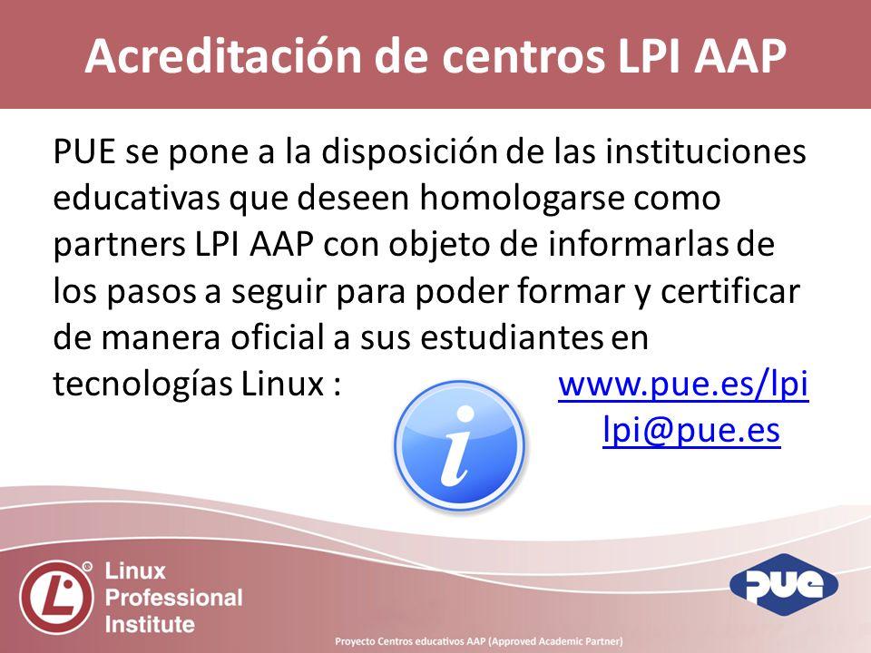 Acreditación de centros LPI AAP