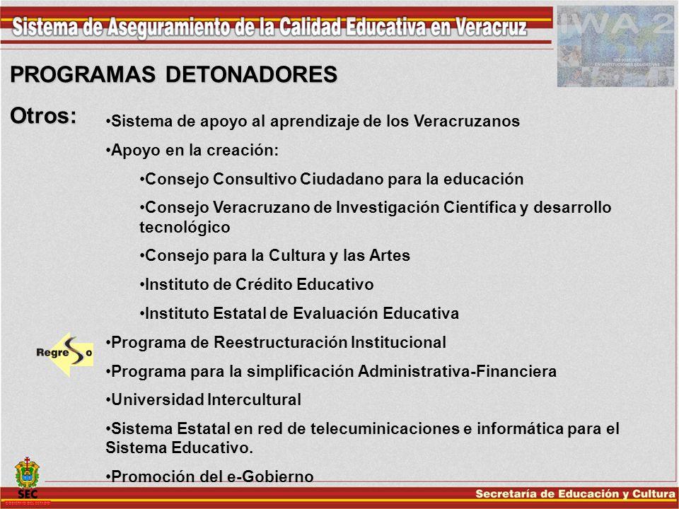 PROGRAMAS DETONADORES Otros: