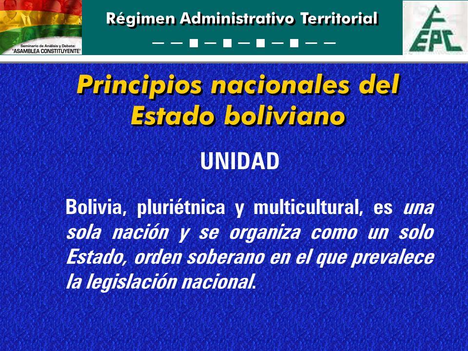 Principios nacionales del Estado boliviano