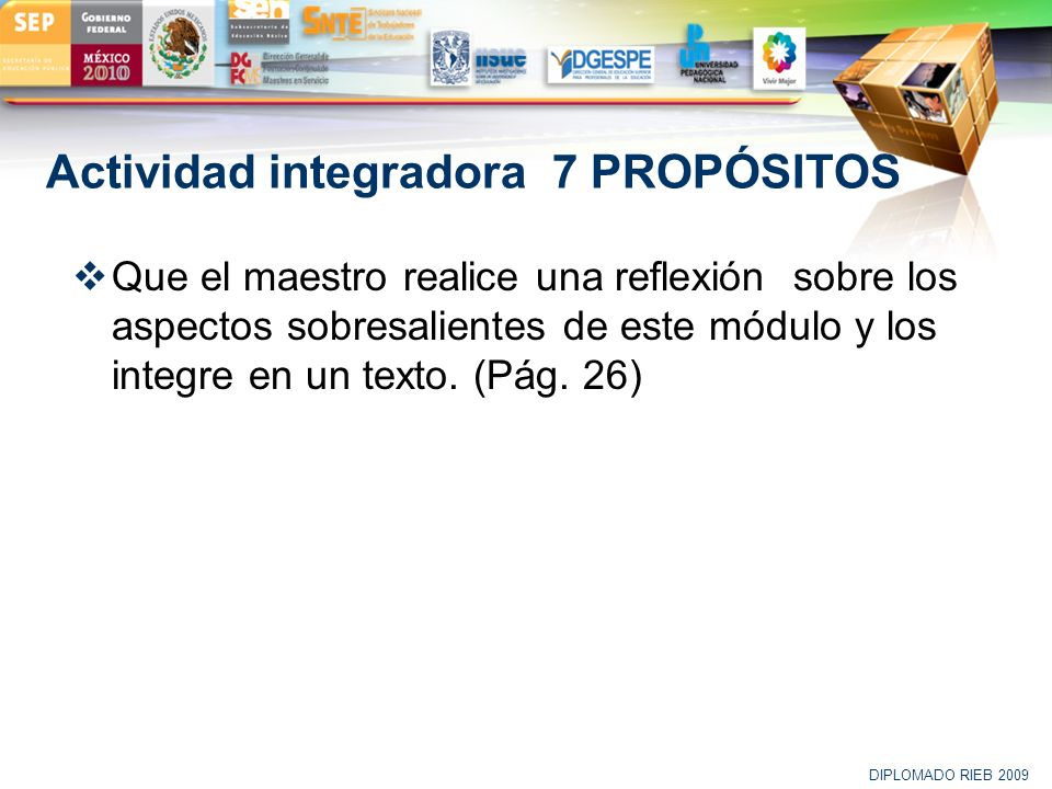 Actividad integradora 7 PROPÓSITOS