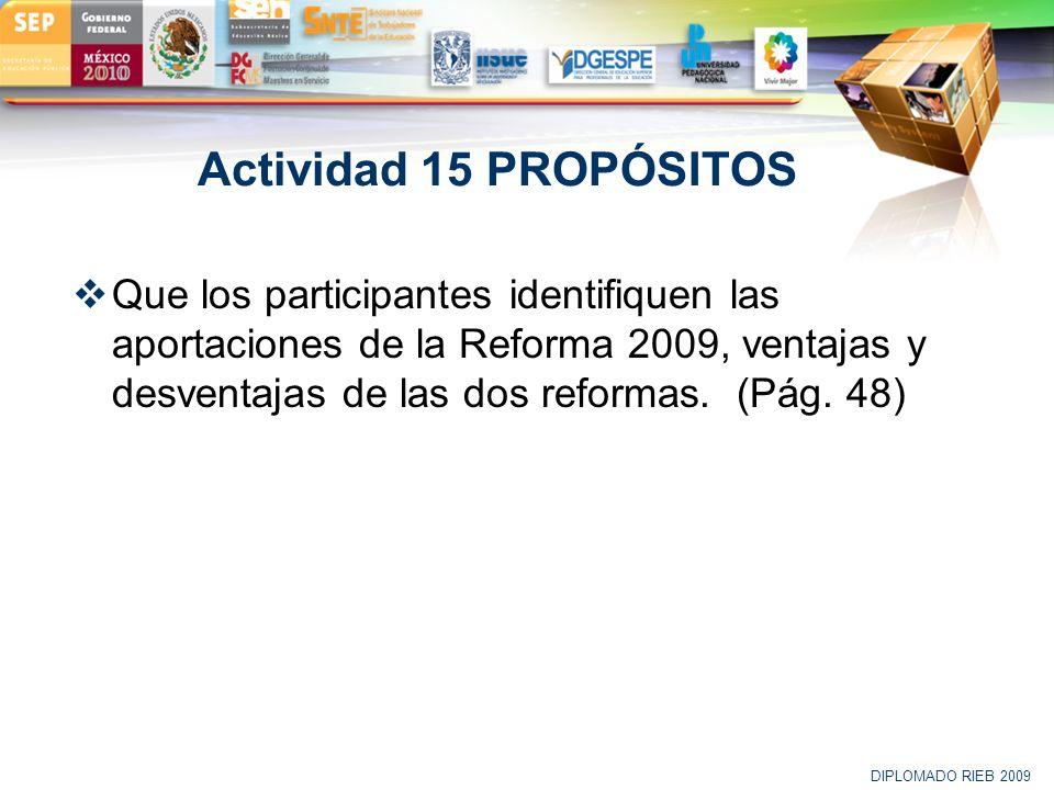 Actividad 15 PROPÓSITOS