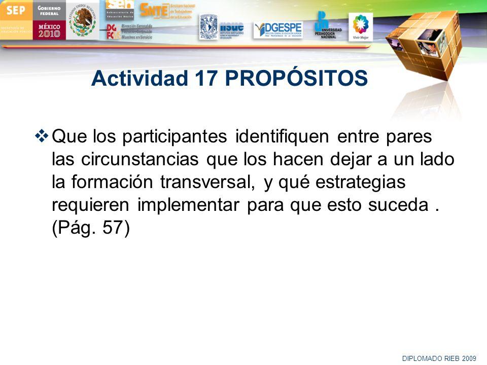 Actividad 17 PROPÓSITOS