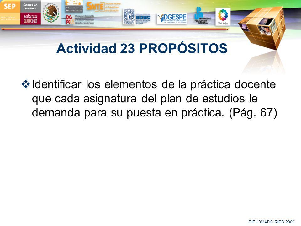 Actividad 23 PROPÓSITOS