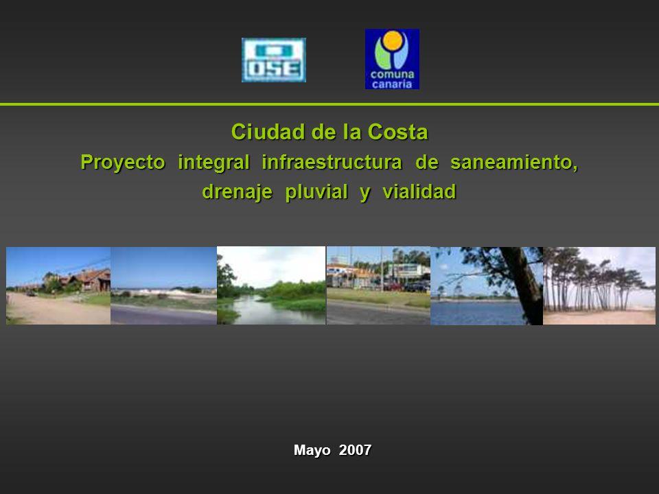 Ciudad de la Costa Proyecto integral infraestructura de saneamiento,