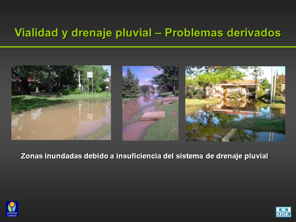 Vialidad y drenaje pluvial – Problemas derivados