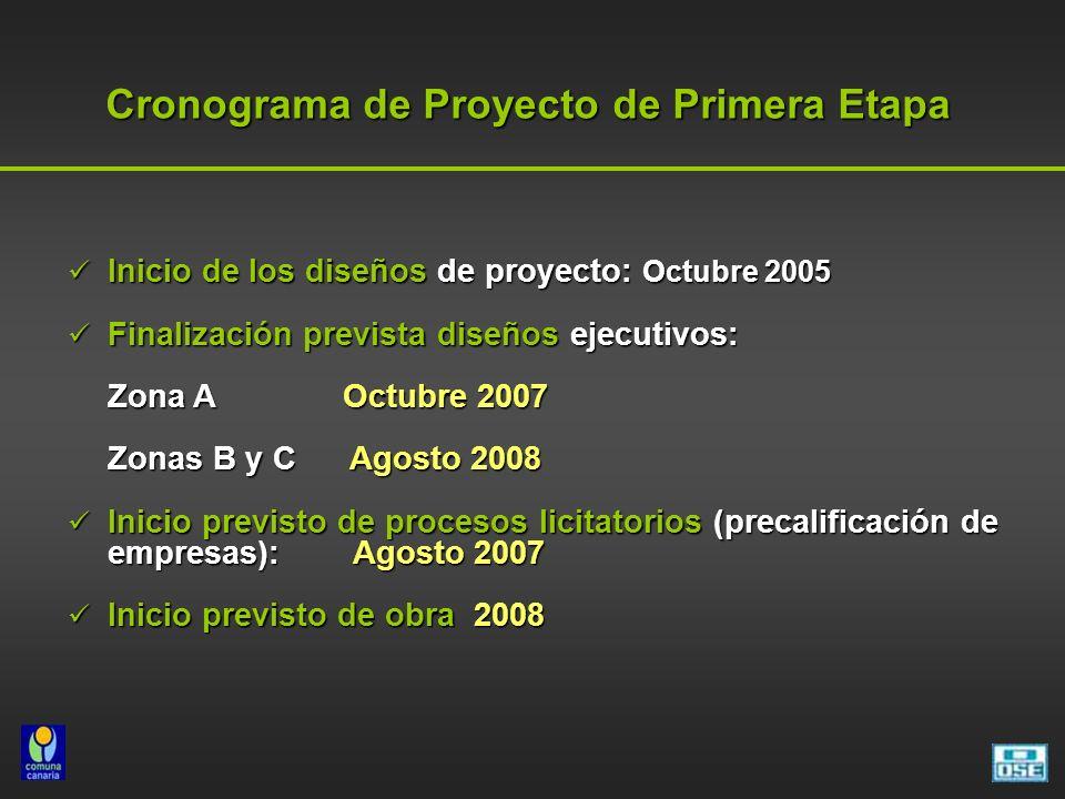 Cronograma de Proyecto de Primera Etapa