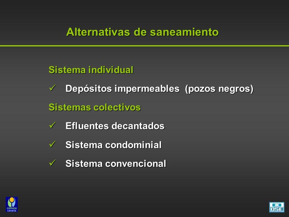 Alternativas de saneamiento