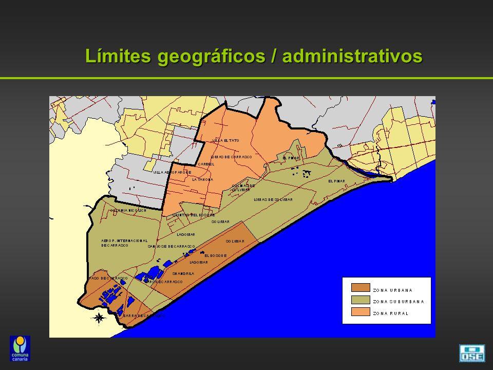 Límites geográficos / administrativos