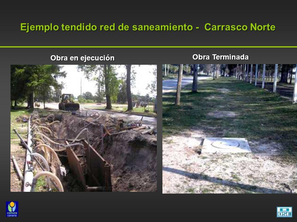 Ejemplo tendido red de saneamiento - Carrasco Norte