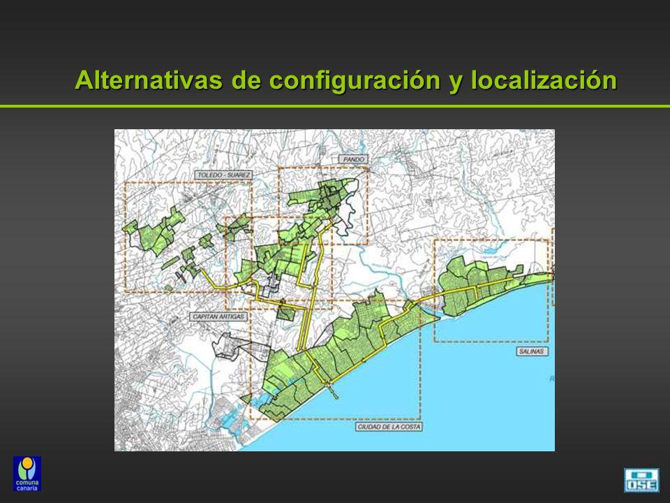 Alternativas de configuración y localización