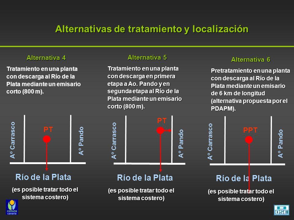 Alternativas de tratamiento y localización