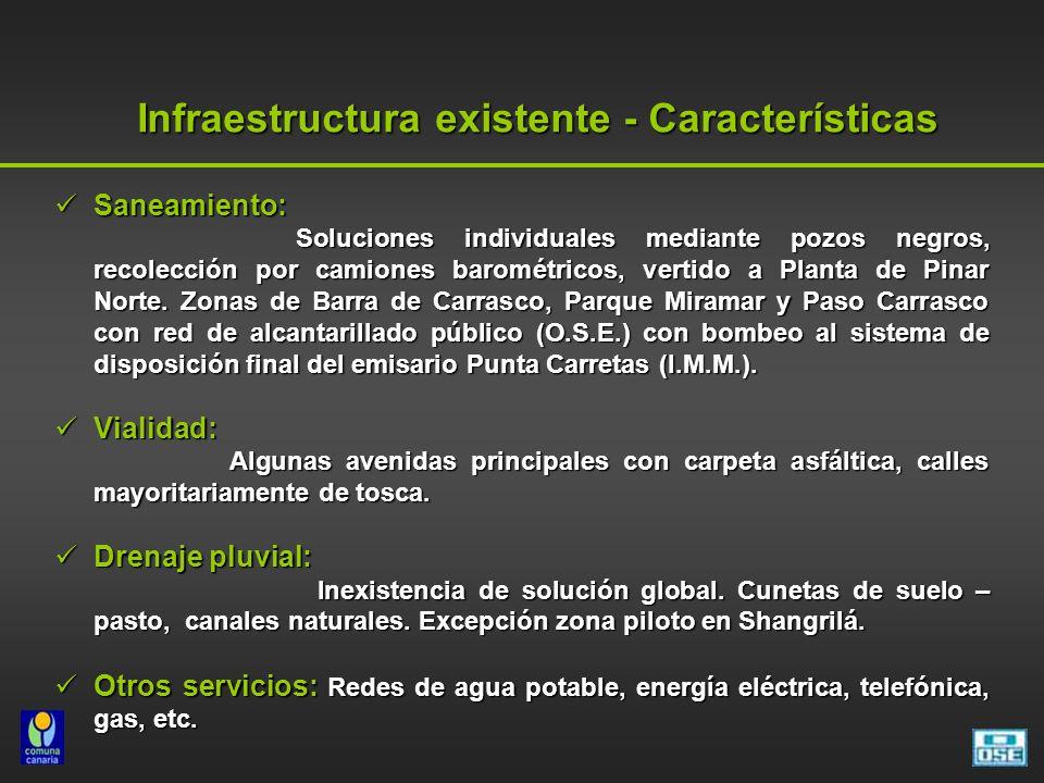 Infraestructura existente - Características