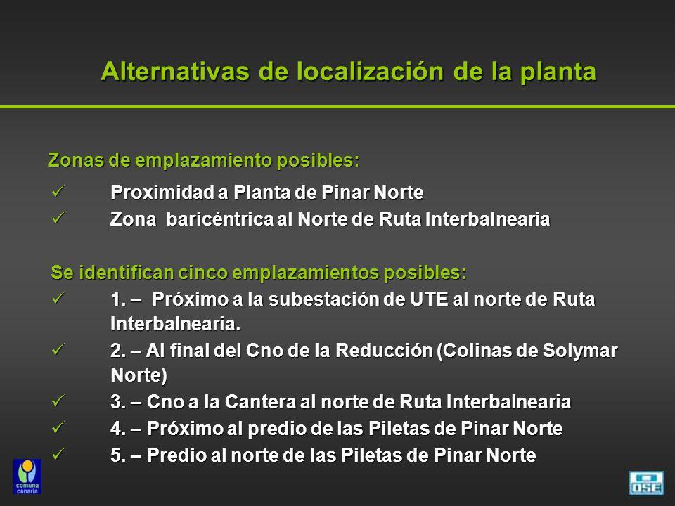 Alternativas de localización de la planta