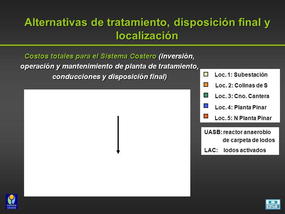 Alternativas de tratamiento, disposición final y localización