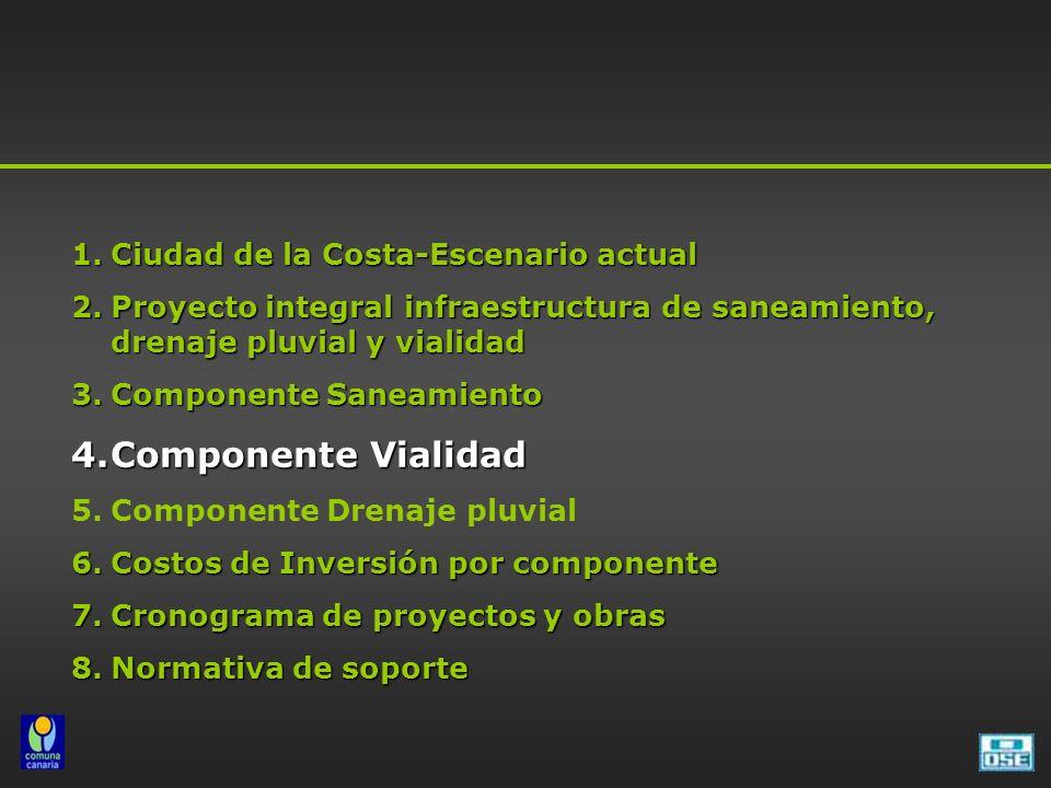 Componente Vialidad Ciudad de la Costa-Escenario actual
