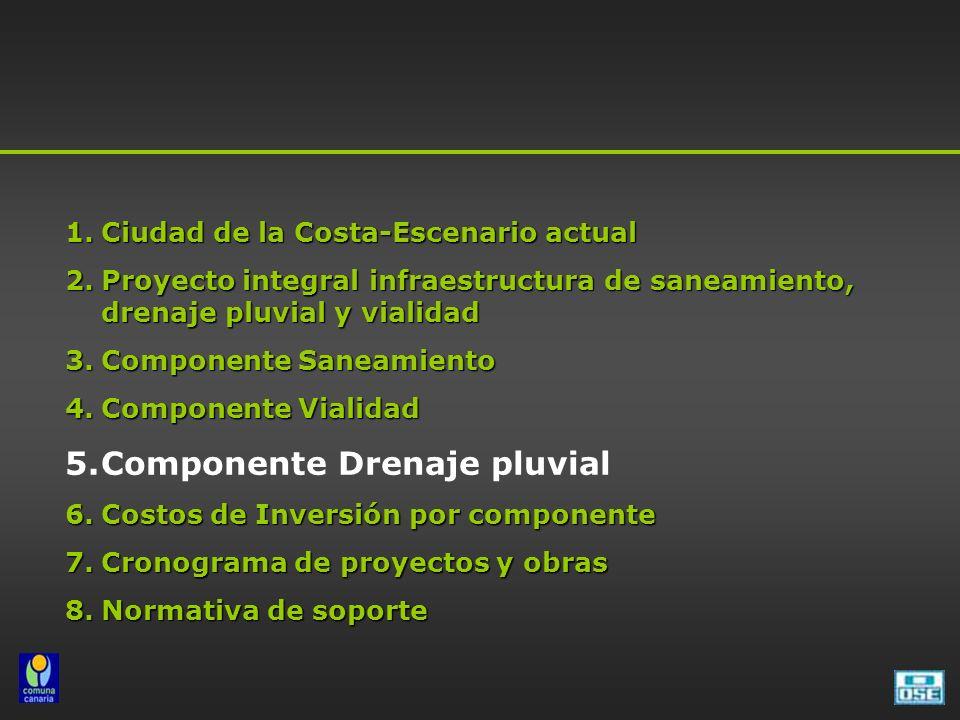 Componente Drenaje pluvial