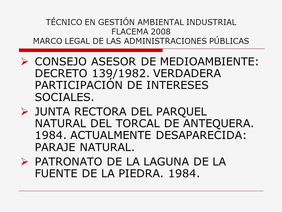 PATRONATO DE LA LAGUNA DE LA FUENTE DE LA PIEDRA. 1984.