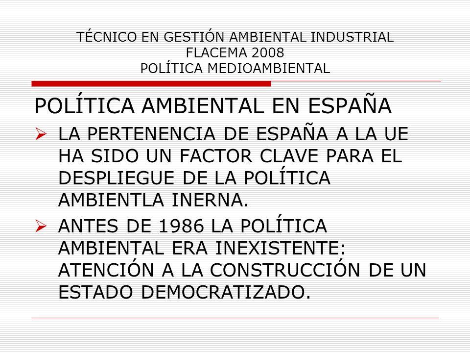POLÍTICA AMBIENTAL EN ESPAÑA
